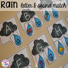 Spring themed beginning sounds game plus Plant Needs and Life Cycle Posters FREEBIE. Prefect for preschool, pre-k, and kindergarten.