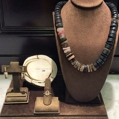 If you like unique, fun and beautiful jewelry, you will love these pieces by Monique Pean. @singlestonemissionstreet #diamonds #fossilized woolymammouth #smokeyquartz #ring #earrings #necklace #blacktourmaline #stromatolite #whitegold #18k #loveit