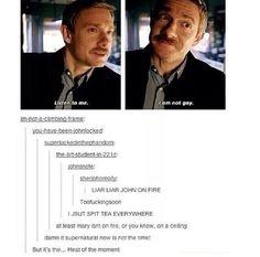 Supernatural hijacking a Sherlock post • Supernatural •