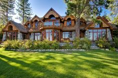 log cabin Dream Home Design, My Dream Home, Dream Homes, Log Cabin Homes, Log Cabins, Dream House Exterior, Cabins In The Woods, Foyers, House Goals
