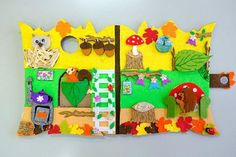 Little forest house,made of very hard and stiff felt. It is a home to three animals. Hedgehog, squirrel and owl.