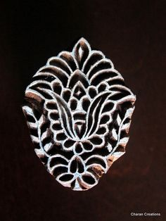 Hand Carved Indian Wood Textile Stamp Block by charancreations,