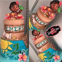 """3,717 Likes, 84 Comments - BREE'S CAKES (@breescakes) on Instagram: """"Say hello to my very first #Moana themed #cake! I had so much fun making this one because I…"""""""