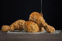 Food, chicken,honey, appetite photographer Esteban Brocos. Production: BrocosFoto.