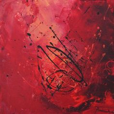 Roseline Al Oumami. Danse paisible: Abstract painting. I love the vibrant pink tones with delicate patterns overlaying the piece which I feel demonstrates writing. The use of colour creates an out of world experience.