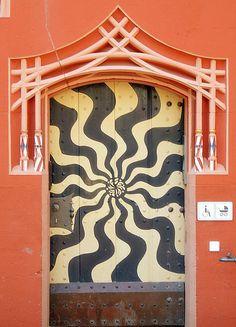 Cool graphic door. Germany