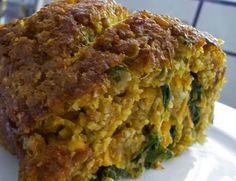 Assado de Trigo e Abóbora com Recheio de Espinafre e Cenoura (vegana)