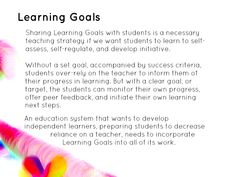 "https://flic.kr/p/GKVpWe | Educational Postcard: ""Sharing Learning Goals with students is a necessary teaching strategy...."" 