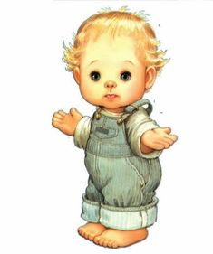 Ruth Morehead - Why? Baby Images, Cute Images, Baby Pictures, Cute Pictures, Painting For Kids, Art For Kids, Cute Clipart, Digi Stamps, Cute Illustration