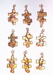 Enchanted Art: Puzzle Piece Charms