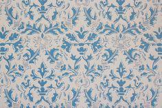 S Vintage Wallpaper Damask Design Blue