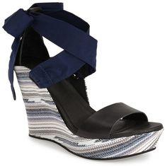 UGG Australia 'Jules Serape' Platform Wedge Sandal (Women) ($90) ❤ liked on Polyvore featuring shoes, sandals, high heeled footwear, platform shoes, strap sandals, high heel sandals and high heel shoes