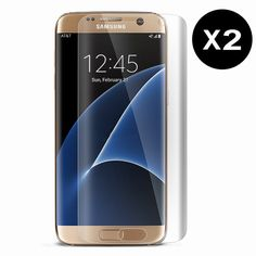 Find More Screen Protectors Information about 2PCS For Galaxy S7 Edge Screen Protector Premium PET Film Screen Protector for Samsung Galaxy S7 Edge Full Coverage Ultra Clear,High Quality s7 car,China s7 service Suppliers, Cheap s7 notebook from Geek on Aliexpress.com