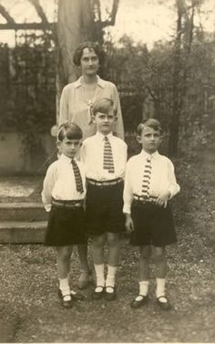 Daughters of Grand Duke Wilhelm of Luxembourg-Princess Sophie with her three sons