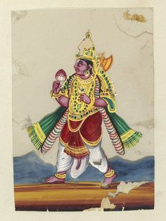 Trichinopoly, India (made)  Date: ca. 1860.  This painting depicts Parasurama.