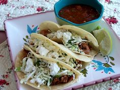 Slow Cooked Mexican Pork with Cilantro Slaw