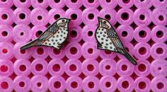 shrink plastic birds for ears on HAMA