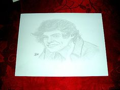 HARRY STYLES/ONE DIRECTION/ PENCIL DRAWING