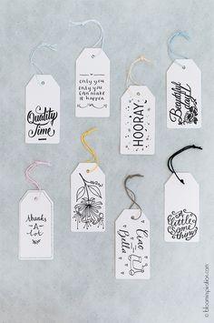 mahalolena | 9 Handwritten Gifttags by Happy Makers Blog | http://mahalolena.com