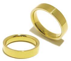 Trauringe / Eheringe aus 585er Gelbgold 4mm