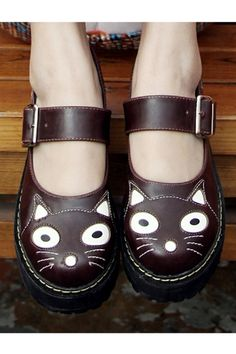Cat Vamp Creepers for US$57.75 at Oasáp. we love creepers, we love cats, these cat creepers are the ultimate edge of everything cuteness!