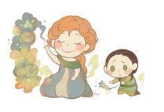 Parenting - Frigga & child!Loki