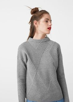 Pull-over texturé rayures - Gilets et pull-overs pour Femme | MANGO France