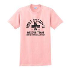 Zombie Apocalypse Rescue Team Short Sleeve T-Shirt Response Team Defense Dead Kill Undead Walking Human Humans Versus VS Zombies Funny Halloween Costume T-Shirt Large Lt. Pink XI, http://www.amazon.com/dp/B009L4EHGO/ref=cm_sw_r_pi_dp_H0fPqb1R5PYQ6