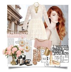 A fashion look from September 2015 featuring embroidered dress, lace-up sandals and pink purse. Browse and shop related looks. Lace Up Sandals, Polyvore Outfits, Vince Camuto, Valentino, Fashion Looks, Ice, Romantic, Wedding Dresses, Glass