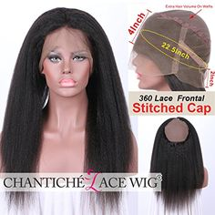 Chantiche Best Italian Yaki 360 Lace Frontal with Cap Brazilian Virgin Human Hair Kinky Straight Frontals Lace Closure for Women with Baby Hair 14inches Natural Color * More info could be found at the image url. (This is an affiliate link and I receive a commission for the sales)