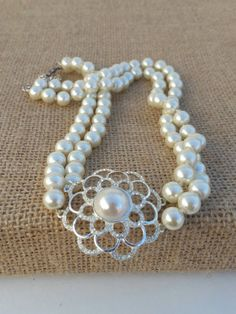 Check out this item in my Etsy shop https://www.etsy.com/listing/267363860/double-strand-vitnage-pearl-cezanne