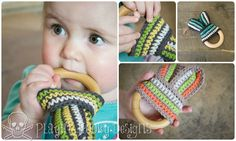 FREE PATTERN Playin' Hooky Designs: Bunny Slope Teether for Babies - Free Crochet Pattern