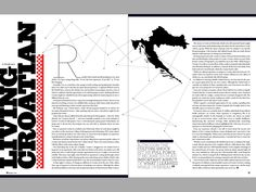 2 page magazine spread research