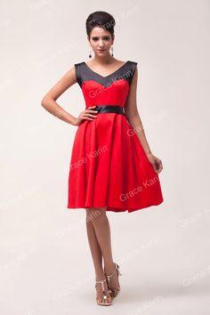 Graça Karin Plus size Red & Black algodão 50 s 60 s rockabilly Pinup Retro Vintage balanço dança Casual vestido de festa vestidos 4597 em Vestidos de Roupas e Acessórios no AliExpress.com | Alibaba Group