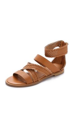 Star Perforated Gladiator Sandals