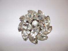 Vintage Weiss Rhinestone Pin // Retro Brooches // Pristine Vintage // Madmen Jewelry // 1950's by MaisonettedeMadness. via Etsy.