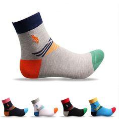 7db21aa147e Aliexpress.com   Buy 5 Pairs   Lot High Quality Polo Style Men Cotton Socks  Designer In Tube Socks for Men Fashion Dress Socks from Reliable men cotton  ...