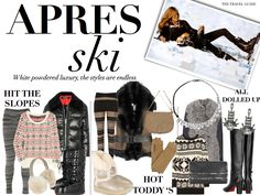 Apres Ski / Hit The Slopes Outfit Builders Cold Weather Dresses, Cold Weather Fashion, Winter Socks, Winter Gear, Apres Ski Outfits, Ski Weekends, Chalet Chic, Ski Ski, Snow Style