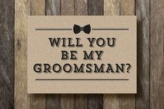 Printable Groomsman Card Will You Be My Best Man Instant