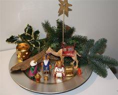 Met de drie koningen en kameel uit een serie van Playmobil.