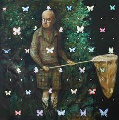 "Saatchi Online Artist: Sergey Mosienko; Acrylic, 2011, Painting ""V.Nabokov"""