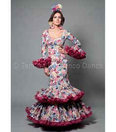 trajes de flamenca 2016 mujer - Aires de Feria - Copla flores