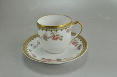Haviland Limoges Antique Pink Rose Gold Cup by CatnuttisClassics, $24.99