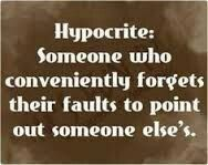 """Hypocrite:  most likely to tell you """"You're not supposed to bring up the past!"""""""