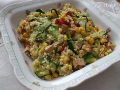 Bulgur s tofu, cukinou a kukuricou - recept Polenta, Fruits And Vegetables, Fried Rice, Tofu, Quinoa, Meal Prep, Good Food, Food And Drink, Health Fitness