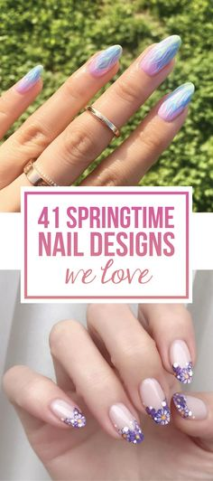 Springtime nails are known to be floral, usually full pastel colors and lots and lots of white— it's only natural. Light colors and elegant florals give your nails a youthful and playful appearance. These types of spring nails go well with dark, light, and of course natural colored clothing. If you're looking for flawless and adorable spring nail inspiration, look no further. Abstract flower nails. (Nina Park) Tiny bits of crystal pixie. (Nina Park) Matte florals and holo pinkies. (Mia)…