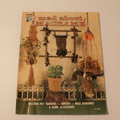 Mad About Macrame - Jewelry, Wall Hangings, Owl more 1975 Vintage Knotting HA 36 by PrettyfulPatterns on Etsy