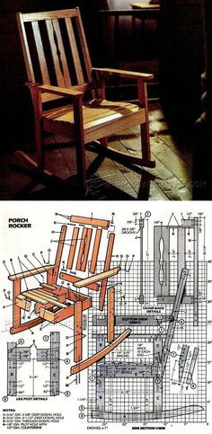 Oak Rocking Chair Plans Jazzy Power Used Solid Furniture And Projects Woodarchivist Com