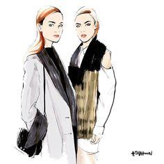 Thakoon by Alena Lavdovskaya. Fashion illustration on Artluxe Designs. #artluxedesigns