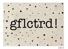 Zoedt Houten kaartje GFLCTRD!